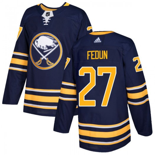 Taylor Fedun Buffalo Sabres Men's Adidas Authentic Navy Home Jersey