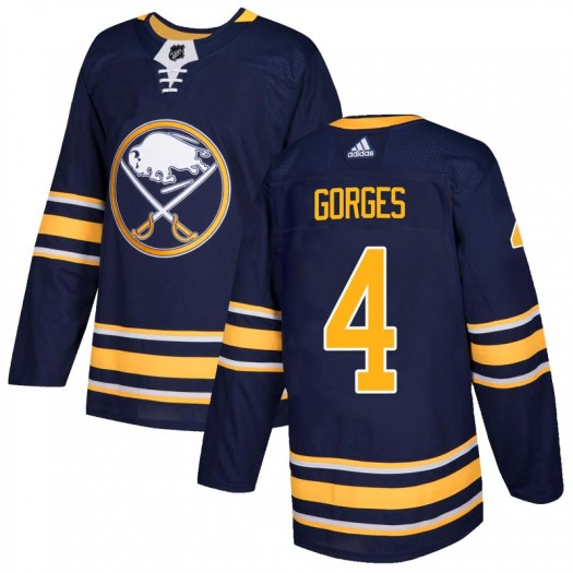 Josh Gorges Buffalo Sabres Men's Adidas Authentic Navy Home Jersey
