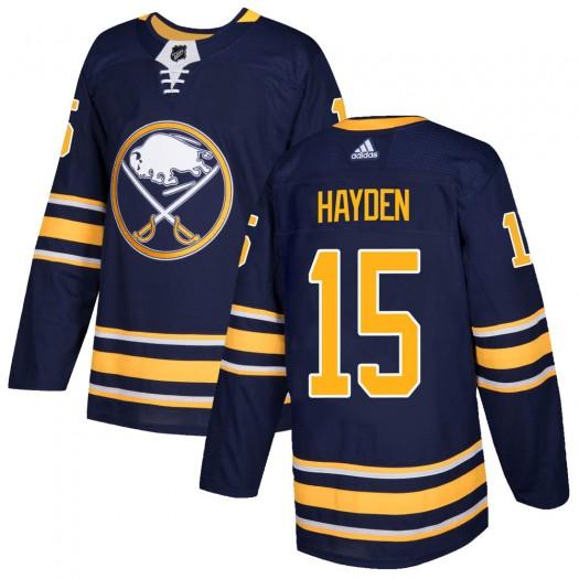 John Hayden Buffalo Sabres Men's Adidas Authentic Navy Home Jersey