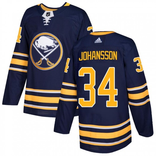 Jonas Johansson Buffalo Sabres Men's Adidas Authentic Navy Home Jersey