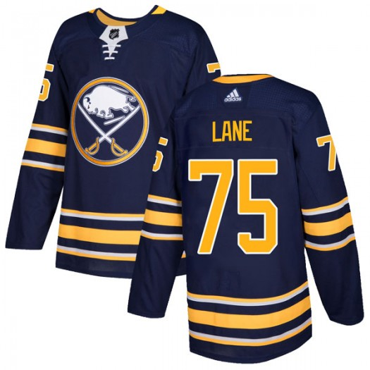 Matthew Lane Buffalo Sabres Men's Adidas Authentic Navy Home Jersey