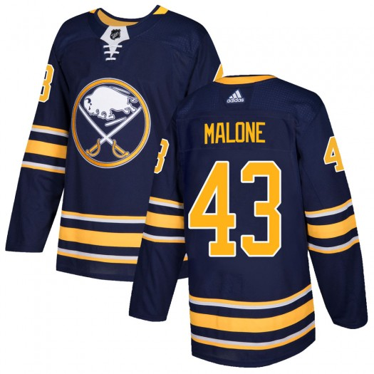 Sean Malone Buffalo Sabres Men's Adidas Authentic Navy Home Jersey
