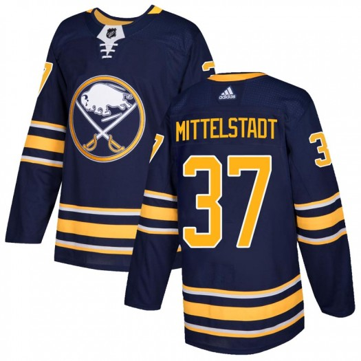 Casey Mittelstadt Buffalo Sabres Men's Adidas Authentic Navy Home Jersey