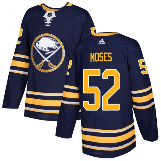 Steve Moses Buffalo Sabres Men's Adidas Authentic Navy Home Jersey