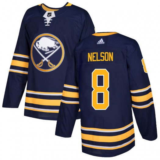 Casey Nelson Buffalo Sabres Men's Adidas Authentic Navy Home Jersey