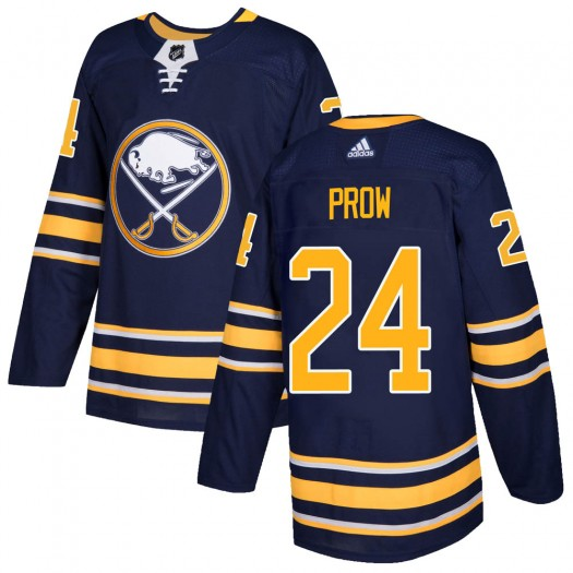 Ethan Prow Buffalo Sabres Men's Adidas Authentic Navy Home Jersey