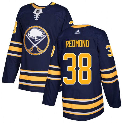 Zach Redmond Buffalo Sabres Men's Adidas Authentic Red Navy Home Jersey