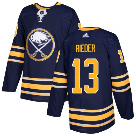 Tobias Rieder Buffalo Sabres Men's Adidas Authentic Navy Home Jersey