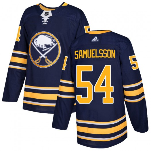 Mattias Samuelsson Buffalo Sabres Men's Adidas Authentic Navy Home Jersey