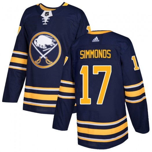 Wayne Simmonds Buffalo Sabres Men's Adidas Authentic Navy ized Home Jersey