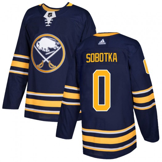 Vladimir Sobotka Buffalo Sabres Men's Adidas Authentic Navy ized Home Jersey