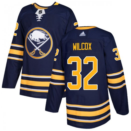 Adam Wilcox Buffalo Sabres Men's Adidas Authentic Navy Home Jersey