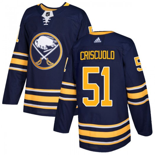 Kyle Criscuolo Buffalo Sabres Youth Adidas Authentic Navy Home Jersey