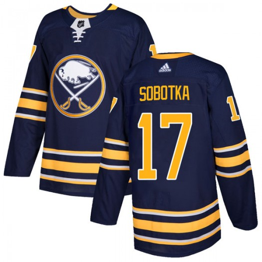 Vladimir Sobotka Buffalo Sabres Youth Adidas Authentic Navy Home Jersey