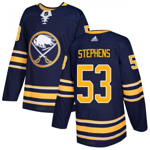Devante Stephens Buffalo Sabres Youth Adidas Authentic Navy Home Jersey