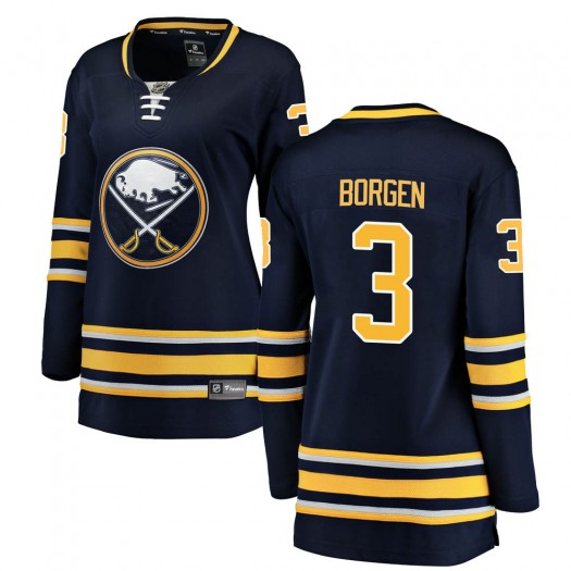 Will Borgen Buffalo Sabres Women's Fanatics Branded Navy Blue Breakaway Home Jersey