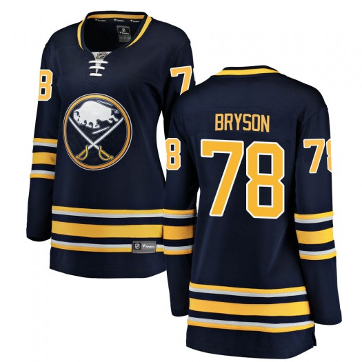 Jacob Bryson Buffalo Sabres Women's Fanatics Branded Navy Blue Breakaway Home Jersey