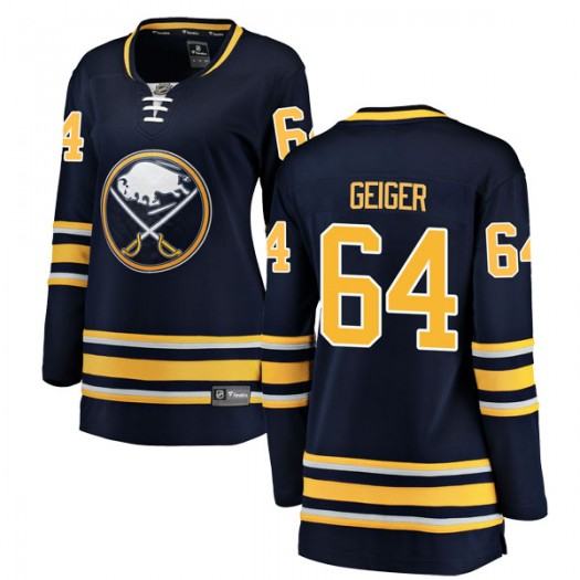 Paul Geiger Buffalo Sabres Women's Fanatics Branded Navy Blue Breakaway Home Jersey