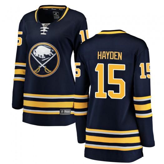 John Hayden Buffalo Sabres Women's Fanatics Branded Navy Blue Breakaway Home Jersey