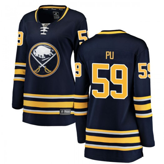 Cliff Pu Buffalo Sabres Women's Fanatics Branded Navy Blue Breakaway Home Jersey