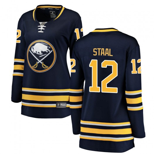 Eric Staal Buffalo Sabres Women's Fanatics Branded Navy Blue Breakaway Home Jersey