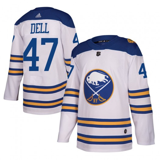 Aaron Dell Buffalo Sabres Men's Adidas Authentic White 2018 Winter Classic Jersey