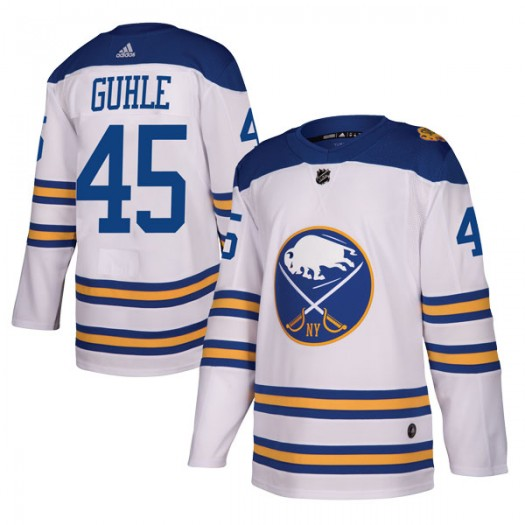 Brendan Guhle Buffalo Sabres Men's Adidas Authentic White 2018 Winter Classic Jersey