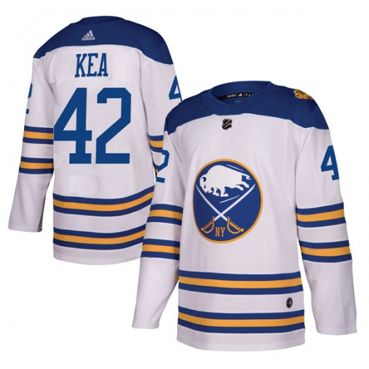 Justin Kea Buffalo Sabres Men's Adidas Authentic White 2018 Winter Classic Jersey