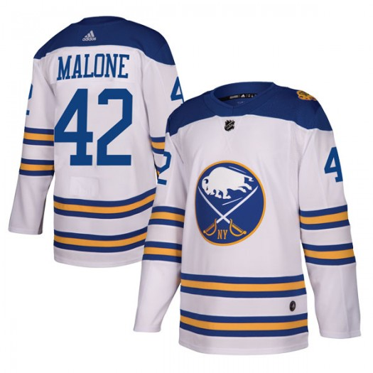 Sean Malone Buffalo Sabres Men's Adidas Authentic White 2018 Winter Classic Jersey