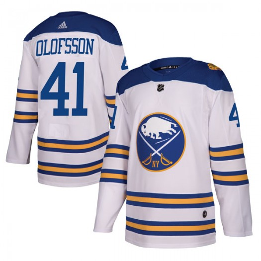 Victor Olofsson Buffalo Sabres Men's Adidas Authentic White 2018 Winter Classic Jersey