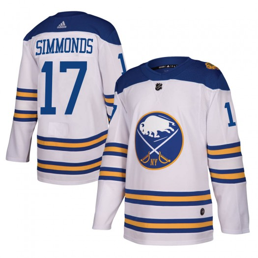 Wayne Simmonds Buffalo Sabres Men's Adidas Authentic White ized 2018 Winter Classic Jersey