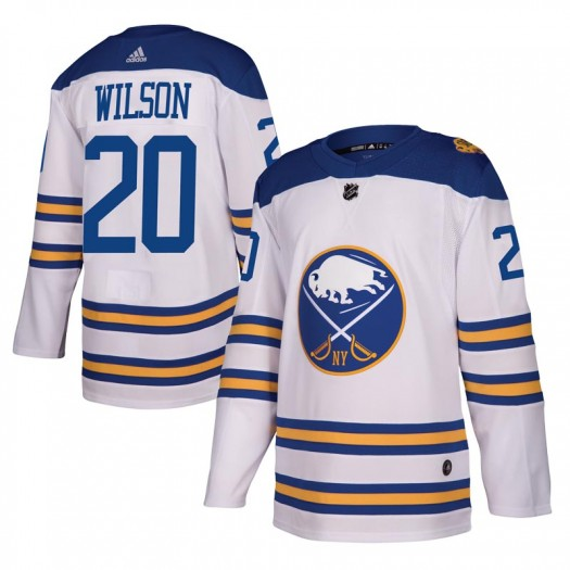 Scott Wilson Buffalo Sabres Men's Adidas Authentic White 2018 Winter Classic Jersey