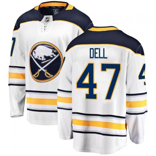 Aaron Dell Buffalo Sabres Men's Fanatics Branded White Breakaway Away Jersey