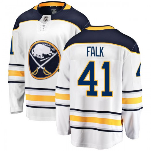 Justin Falk Buffalo Sabres Men's Fanatics Branded White Breakaway Away Jersey