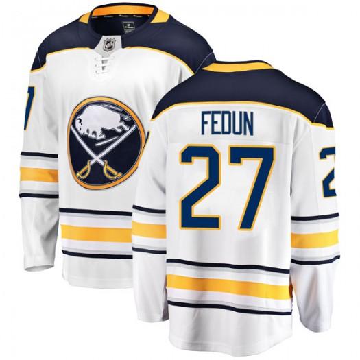 Taylor Fedun Buffalo Sabres Men's Fanatics Branded White Breakaway Away Jersey