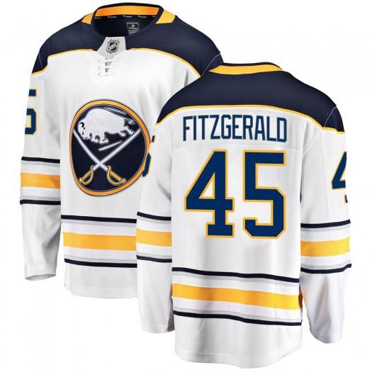 Casey Fitzgerald Buffalo Sabres Men's Fanatics Branded White Breakaway Away Jersey