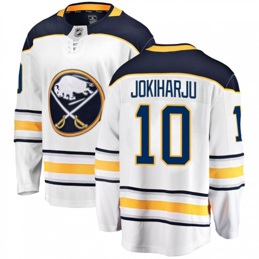 Henri Jokiharju Buffalo Sabres Men's Fanatics Branded White Breakaway Away Jersey