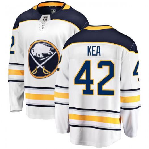Justin Kea Buffalo Sabres Men's Fanatics Branded White Breakaway Away Jersey
