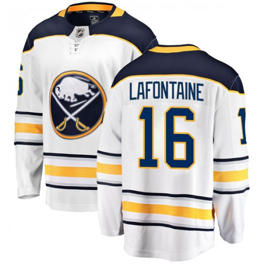 Pat Lafontaine Buffalo Sabres Men's Fanatics Branded White Breakaway Away Jersey