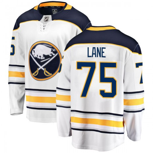 Matthew Lane Buffalo Sabres Men's Fanatics Branded White Breakaway Away Jersey