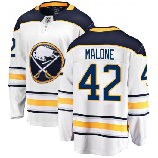 Sean Malone Buffalo Sabres Men's Fanatics Branded White Breakaway Away Jersey