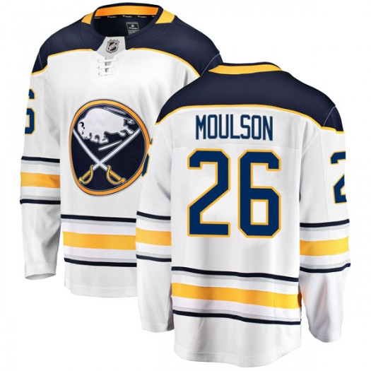 Matt Moulson Buffalo Sabres Men's Fanatics Branded White Breakaway Away Jersey