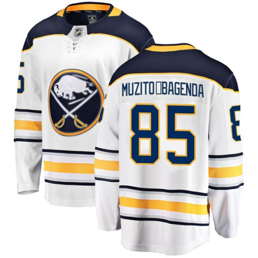 Daniel Muzito-Bagenda Buffalo Sabres Men's Fanatics Branded White Breakaway Away Jersey