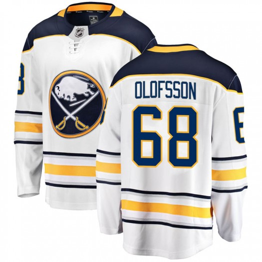 Victor Olofsson Buffalo Sabres Men's Fanatics Branded White Breakaway Away Jersey