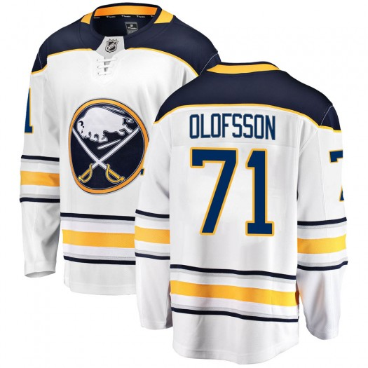 Victor Olofsson Buffalo Sabres Men's Fanatics Branded White Breakaway Away Jersey
