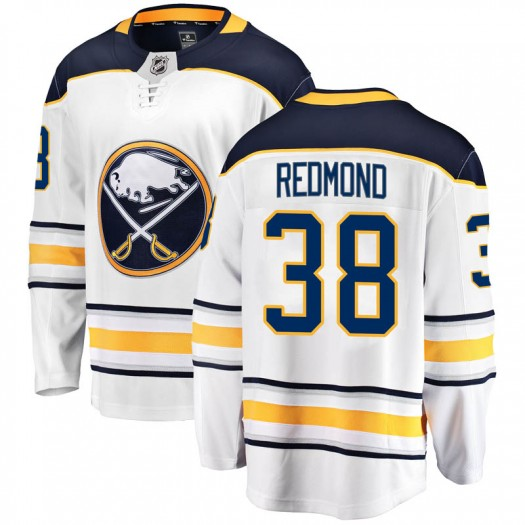 Zach Redmond Buffalo Sabres Men's Fanatics Branded White Breakaway Away Jersey