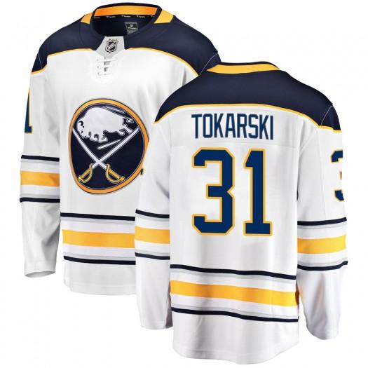 Dustin Tokarski Buffalo Sabres Men's Fanatics Branded White Breakaway Away Jersey