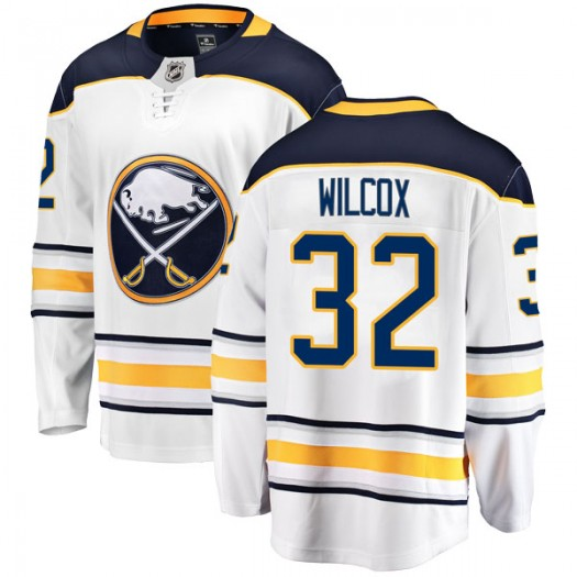 Adam Wilcox Buffalo Sabres Men's Fanatics Branded White Breakaway Away Jersey