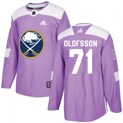 Victor Olofsson Buffalo Sabres Youth Adidas Authentic Purple Fights Cancer Practice Jersey