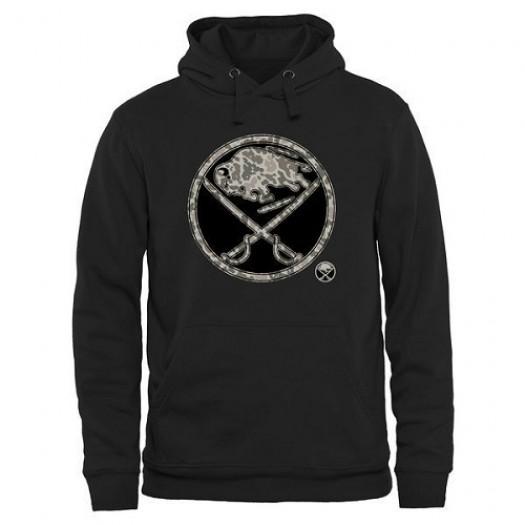 Buffalo Sabres Men's Black Rink Warrior Pullover Hoodie